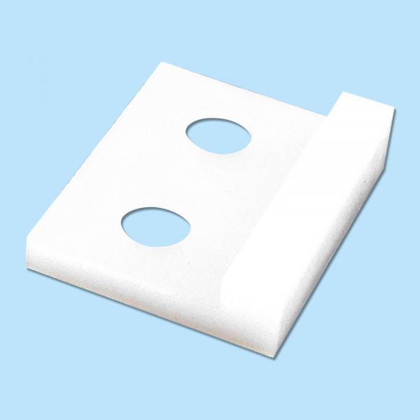 Klemmgleiter für Stahlabdeckungen und Faltenbälge