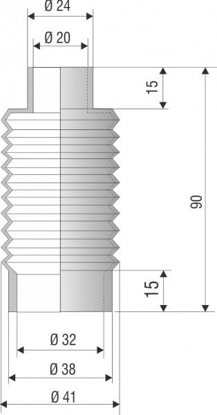 Faltenbalg vulkanisiert / moulded bellows