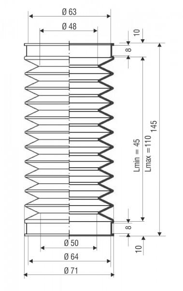 Faltenbalg F 3068 T