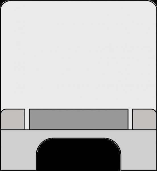 Corona-Schutzscheibe 750mm/825mm Edelstahl gebürstet