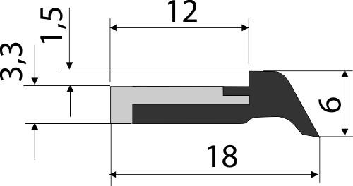 Steinbock Abstreifer für Stahlabdeckungen